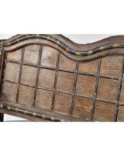 Lavice vyrobená ze starého povozu, teak, 103x65x93cm