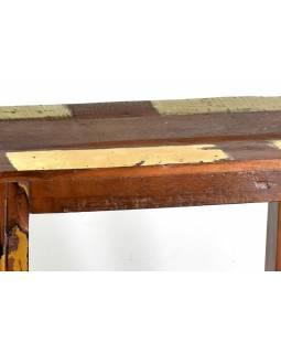 """Stolička z antik teakového dřeva v """"Goa"""" stylu, 44x30x43cm"""