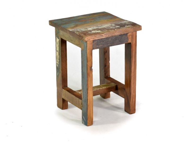 """Stolička z antik teakového dřeva v """"Goa"""" stylu, 25x25x35cm"""