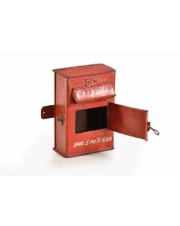 Poštovní schránka Indické pošty, ručně malovaná, 17x10x24cm