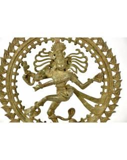Tančící Šiva, mosazná soška, antik patina, 54cm