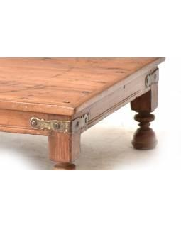 Odkládací stolek z antik teakového dřeva, 70x49x19cm