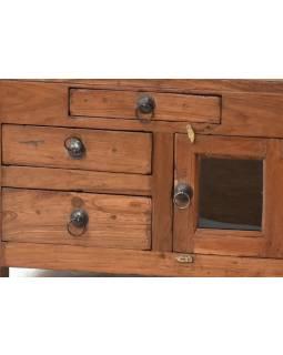 Komodka/stolek z antik teakového dřeva, 60x40x43cm