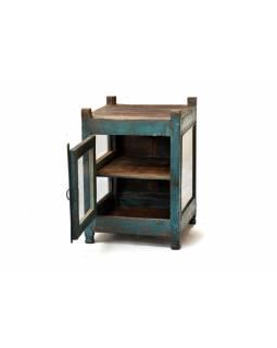 Prosklená skříňka z antik teakového dřeva, 48x50x67cm