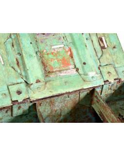 Stará celokovová truhlička-pokladna, 37x25x21cm