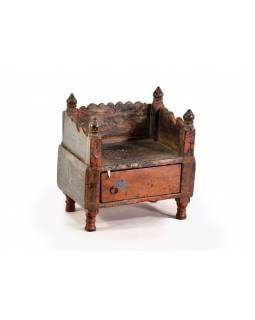 Odkládací stolek/stolička teakového dřeva, 29x30x30cm