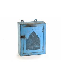 Celokovová skříňka s mřížkou, 31x13x38cm