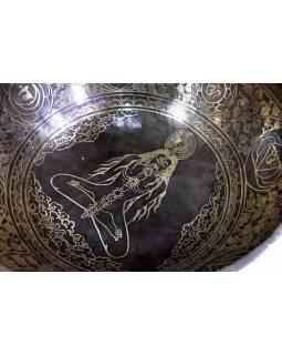 """Tibetská mísa, """"Jam"""", gravírovaný ornament 7 čaker, průměr 33,5cm"""