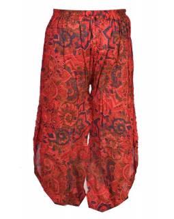 """Dlouhé červené balonové kalhoty se sukní """"Patchwork design"""", elastický pas"""