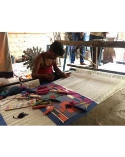 Koberec, ručně tkaný, vlna, bavlna, 120x175cm