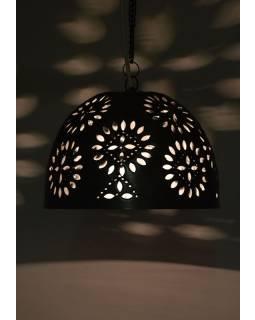 Mosazná lampa v orientálním stylu s jemným vzorem, ruční práce, 29x22cm