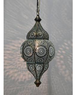 Mosazná lampa v orientálním stylu s jemným vzorem, ruční práce, 50x25cm