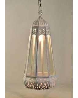Mosazná lampa v orientálním stylu s jemným vzorem, ruční práce, 80x38cm