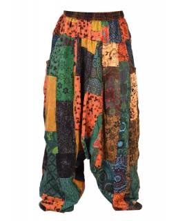 Patchworkové turecké kalhoty, multibarevné, bobbin
