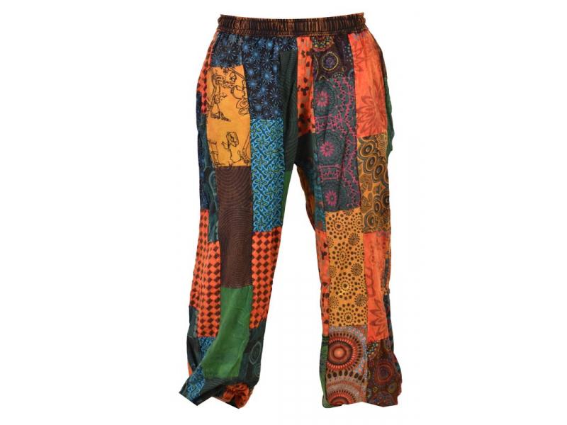 Patchworkové balonové kalhoty, multibarevné, bobbin