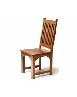 Velký vyřezávaný jídelní stůl se 6 židlemi z antik teakového dřeva,181x92x78cm