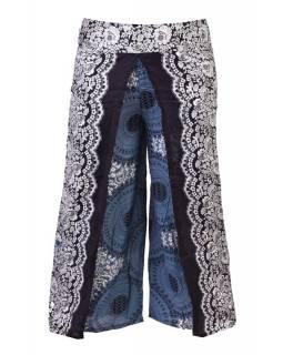 Thajské kalhoty s potiskem, pružný pas