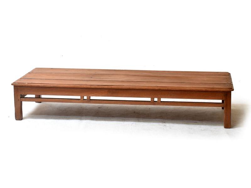 Konferenční stolek z antik teakového dřeva, 174x68x32cm