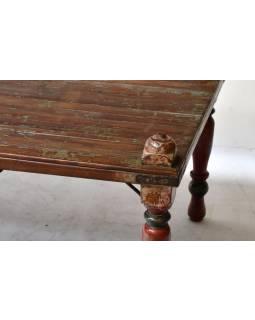 Konferenční stolek z antik teakového dřeva, 182x96x65cm
