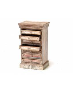 Šuplíková komodka z antik teakového dřeva, 40x30x70cm