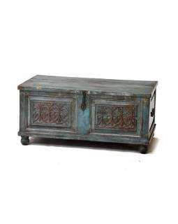 Dřevěná truhla z antik teakového dřeva, 98x55x45cm