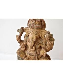 Ganéš, dřevěná ručně malovaná socha, 90cm