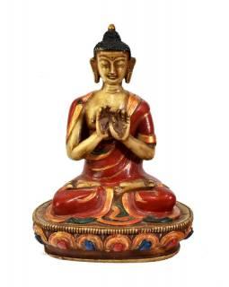Buddha Vairočana, pryskyřice, antik patina, 18cm