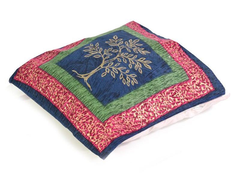 Bavlněný povlak na polštář s ručním potiskem, strom, 40x40cm