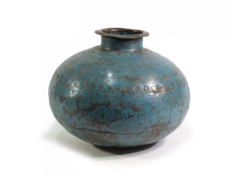Stará kovová nádoba na vodu, průměr 31cm, výška 24cm