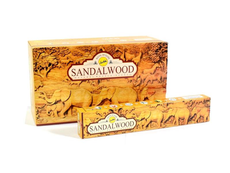 Vonné tyčinky, Sandalwood, Sreevani, 15g, 22cm