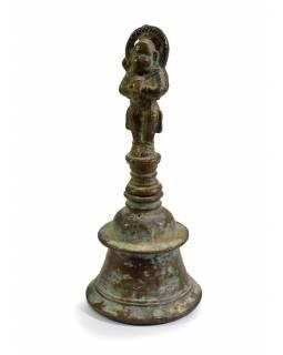 Zvonek se soškou Hanumana, antik, 15cm