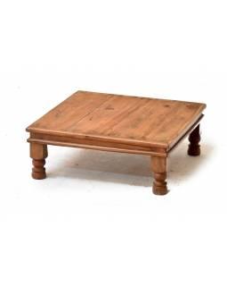 Čajový stolek z antik teakového dřeva, 54x54x17cm