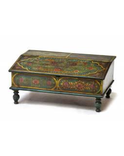 Starý kupecký stolek, ručně malovaný, 68x45x31cm