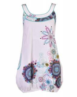 """Elegantní balonové šaty bez rukávu """"Trellis"""", bílá, kapsy, podšívka"""