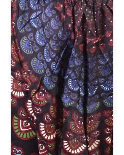 Dlouhé letní turecké kalhoty s potiskem, elastický pas