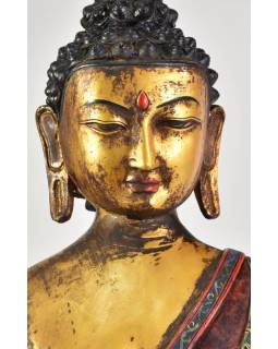 Buddha Šákjamuni, antik patina, keramická socha, 70cm
