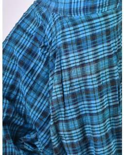 "Turecké kalhoty, ""Patchwork design"", stonewash, modrá, pružný pas"