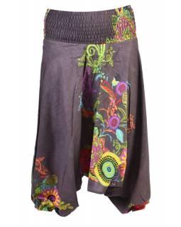 Šedé turecké kalhoty-overal-halena 3v1, žabičkování