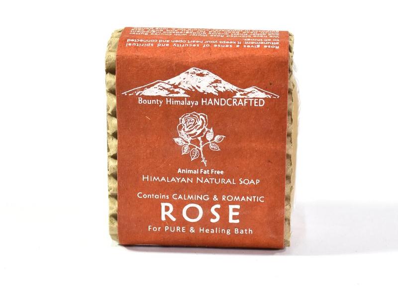 Ručně vyráběné mýdlo z Himálaje, růže, 100g