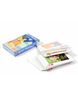 Kamasutra hrací karty, 52 hracích karet, žena s šátkem