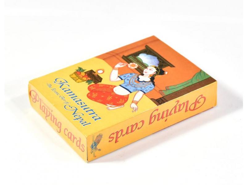 Kamasutra hrací karty, 52 hracích karet, sedící žena