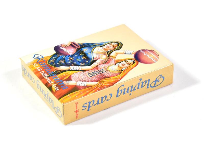 Kamasutra hrací karty, 52 hracích karet, dvě ženy