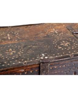 Stará truhlička z teakového dřeva, 39x24x15cm