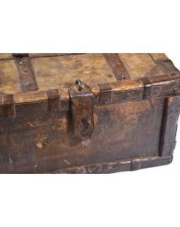 Stará truhlička z teakového dřeva, 25x23x14cm