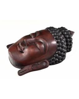 Buddha, dřevěná maska, ruční práce, 44cm