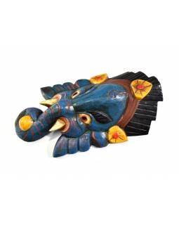 Ganeš, dřevěná maska, ručně malovaná, 31cm