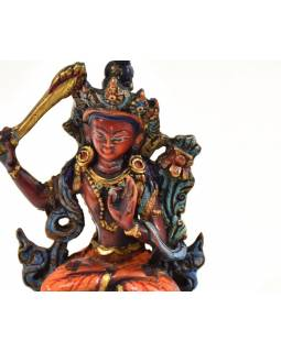 Mandžušrí, ručně malovaný, pryskyřice, 10cm
