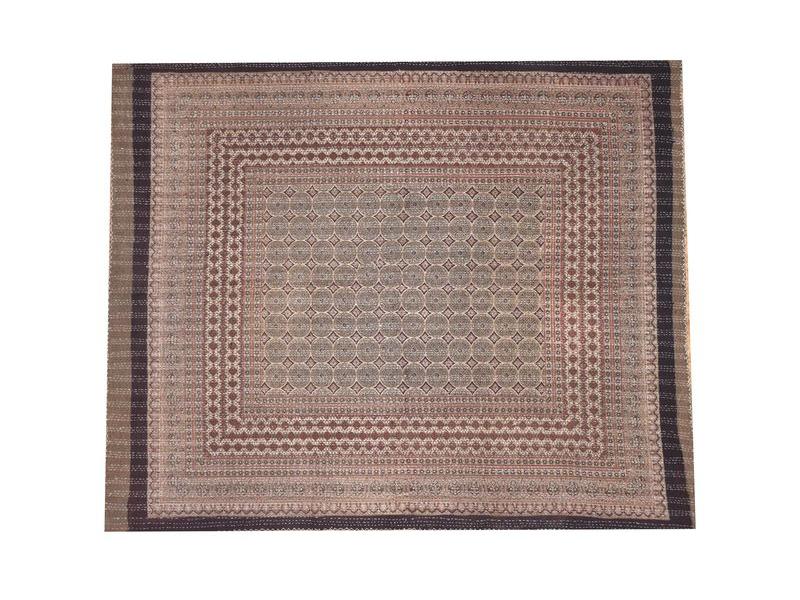 Přehoz na postel, prošívaný, blockprint, ruční práce, 270x225cm