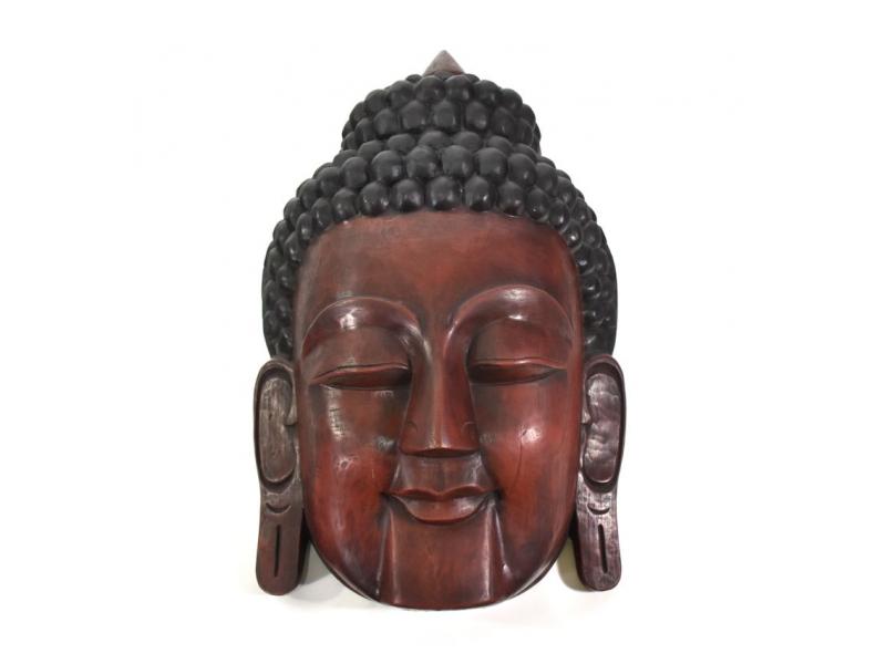 Buddha, dřevěná maska, ruční práce, 53cm