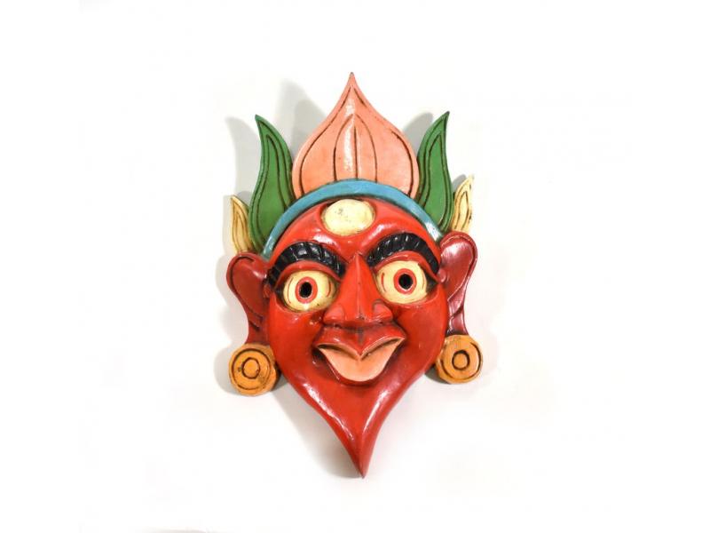 Dřevěná maska, ručně malovaná, 28cm